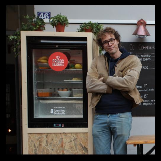 Baptiste Lorber et les frigos solidaires