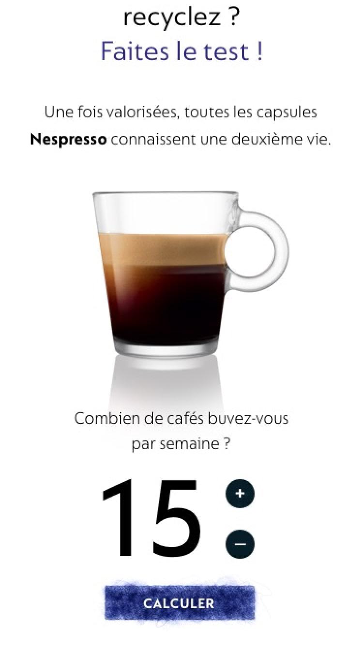 Nespresso Second Life sur téléphone