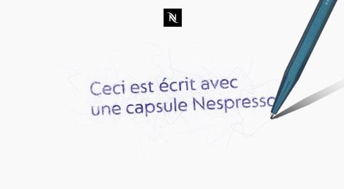 Stylo recyclé Nespresso